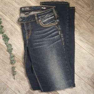 Straight Leg Low Cut Silver Jeans